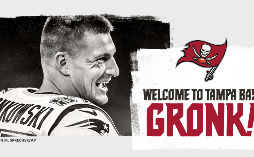 Wow!  Gronk Follows Brady to Tampa Bay